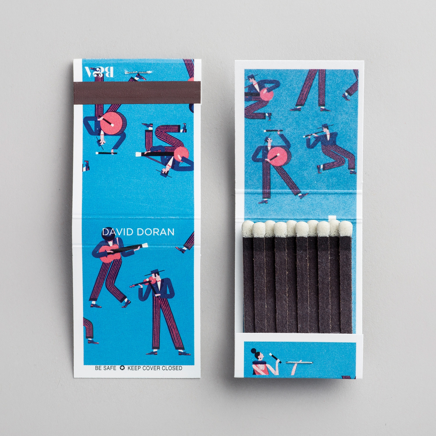 15 matchbooks with incredible artworks by leading illustrators match book original design by by david doran colourmoves